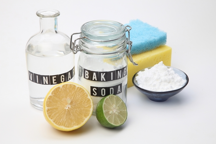 Using vinegar and baking soda is one of the clogged shower drain solutions.