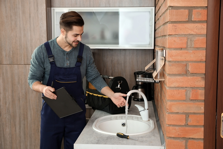 A plumbing inspection pinpoints potential problems.