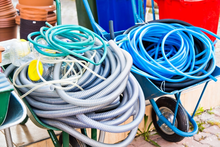 Don't leave hoses lying in your yard
