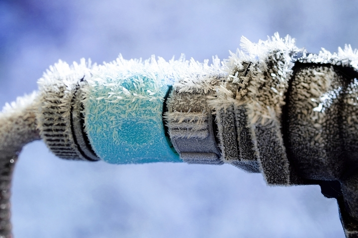 How to find the frozen pipes