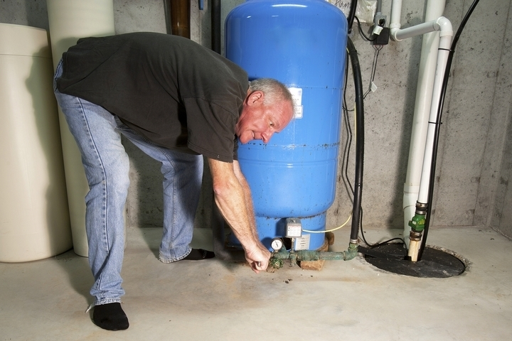 The sump pump isn't working due to improper installation.