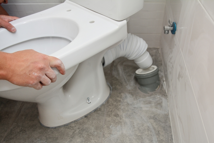 Ensure the toilet is installed properly