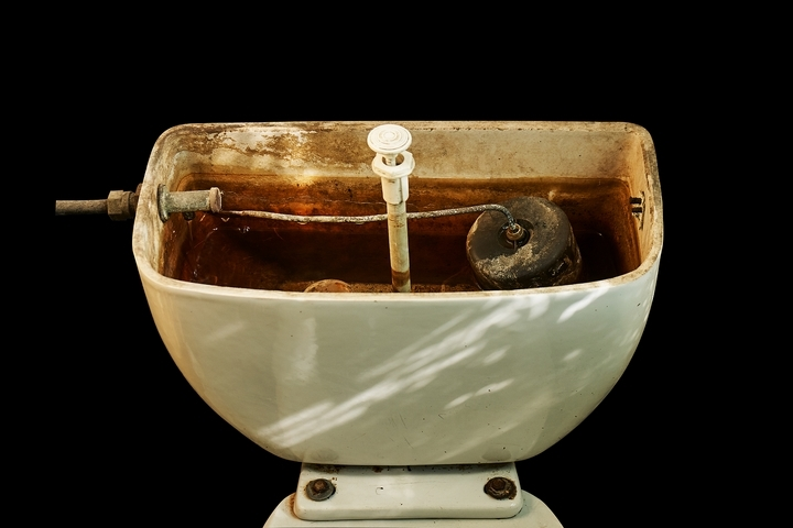 Hard water buildup is a frequent cause of slow draining toilets.