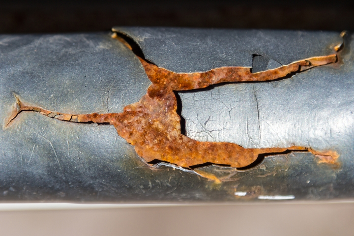 Cracks in old water pipes